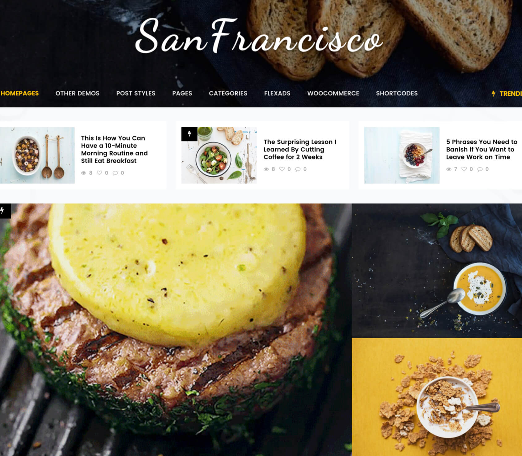 SanFrancisco - MultiConcept Blog & Magazine WordPress Theme